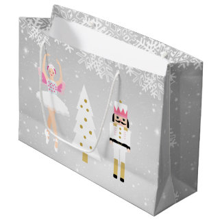 Ballerina and Nutcracker Christmas Gift Bag