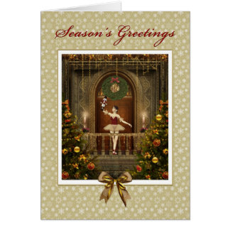 Ballerina and Nutcracker Season's Greetings Card
