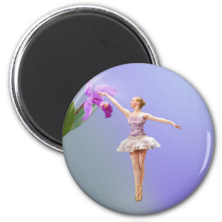 Ballerina and Orchid Magnet