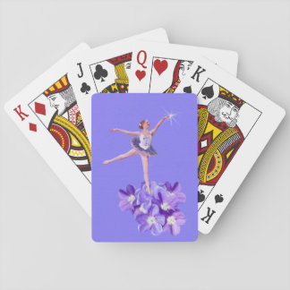 Ballerina and Violets Customizable Playing Cards