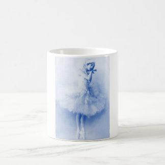 Ballerina Anna Pavlova,blue,vintage,photo. Coffee Mug