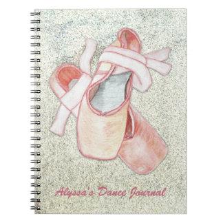 Ballerina Art Dancer Journal Custom Text