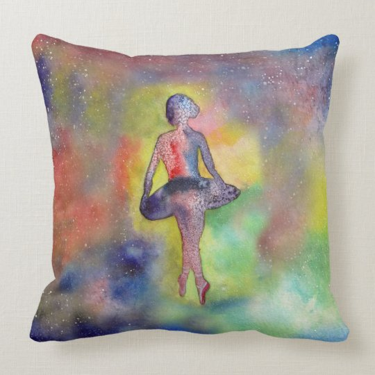 Ballerina Art Painting Throw Pillow 51 cm x