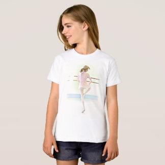 Ballerina at the Bar Girl's Ballet Shirt