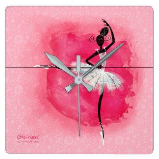 Ballerina at the barre clock