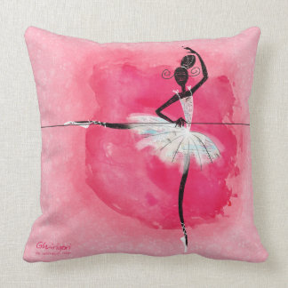 Ballerina at the barre pillow