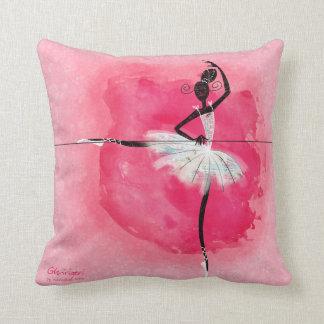 Ballerina at the barre throw pillow