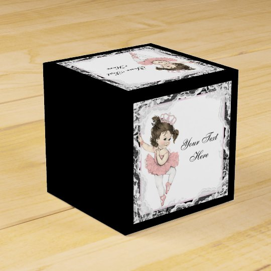 Ballerina Baby Shower Party Favour Box