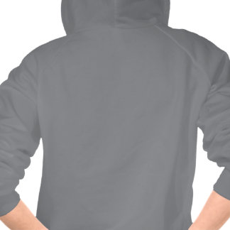 Ballerina Badass Gray Hoodie Zip-up Sweater
