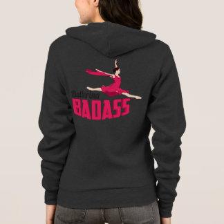 Ballerina Badass Gray Hoodie Zip-up Sweater