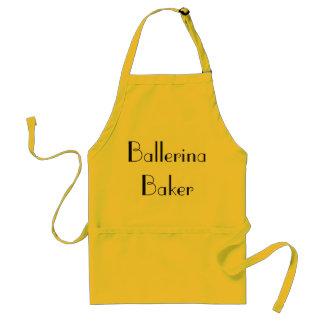 Ballerina Baker Quirky Yellow & Black Apron