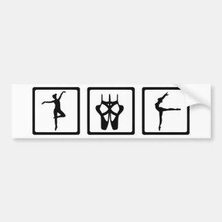 Ballerina Ballet Bumper Sticker