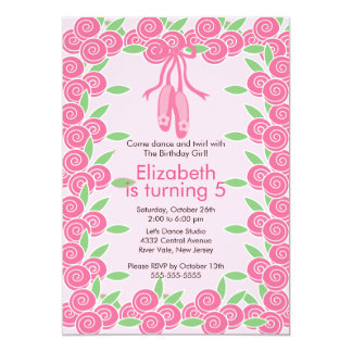Ballerina  Ballet Dance Birthday Invitation