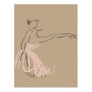 Ballerina ballet dancer postcard