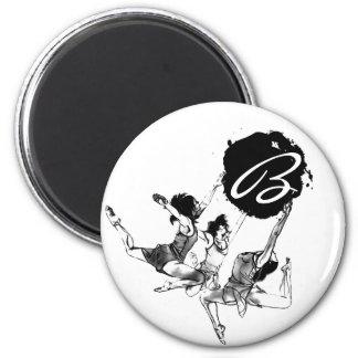 Ballerina Ballet dancing 6 Cm Round Magnet