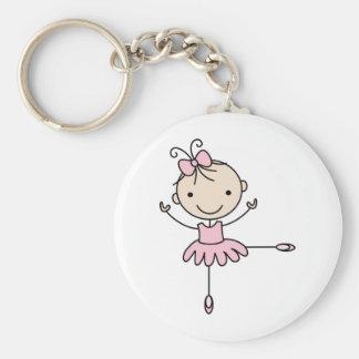 Ballerina Basic Round Button Key Ring