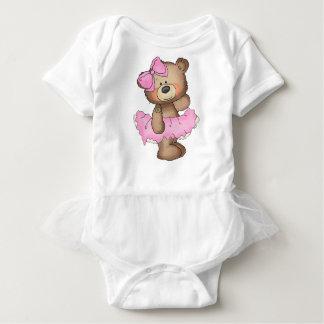 Ballerina Bear Tutu Baby Bodysuit