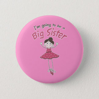 Ballerina Big Sister To Be 6 Cm Round Badge