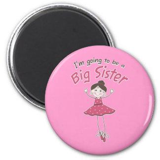 Ballerina Big Sister To Be Fridge Magnets