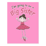 Ballerina Big Sister To Be Postcards