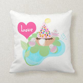 Ballerina birds Custom All-Over-Print pillow. Cushion