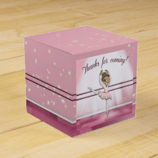 """Ballerina Birthday Favor Box Classic 2x2"" Favour Box"