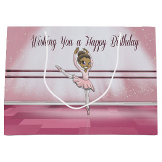 Ballerina Birthday Gift Bag - Large, Glossy Large Gift Bag