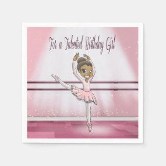 """""""Ballerina Birthday Paper Napkins"""" Paper Napkins"""