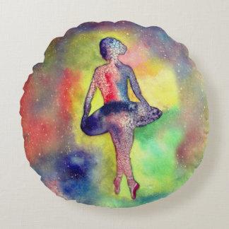 Ballerina  Brushed Polyester Round throw cushion