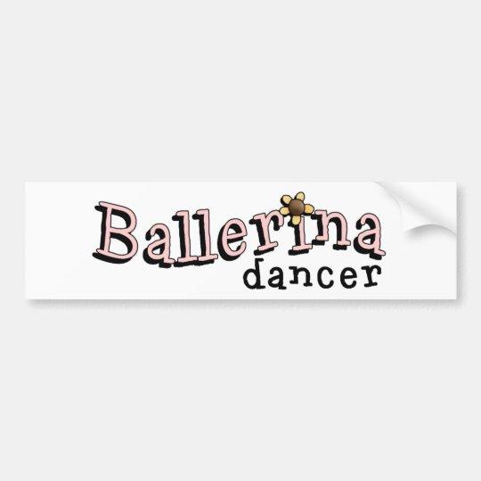 Ballerina Bumper Sticker