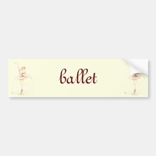 Ballerina Bumper Stickers
