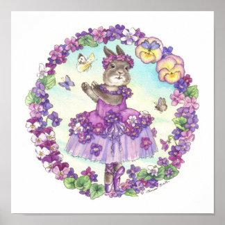 Ballerina Bunny Print Violet