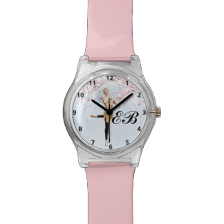 Ballerina, Cherry Blossoms, Customizable Monogram Watch