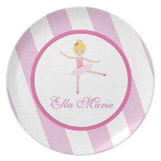 Ballerina Children's Melamine Plate