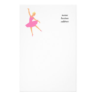 Ballerina custom stationary, add your text stationery