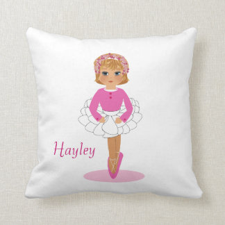 Ballerina Cute Girls Personalised Pillows