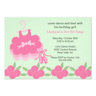 Ballerina Dance Birthday Invitation