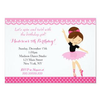 Ballerina Birthday Invitations Announcements Zazzlecouk