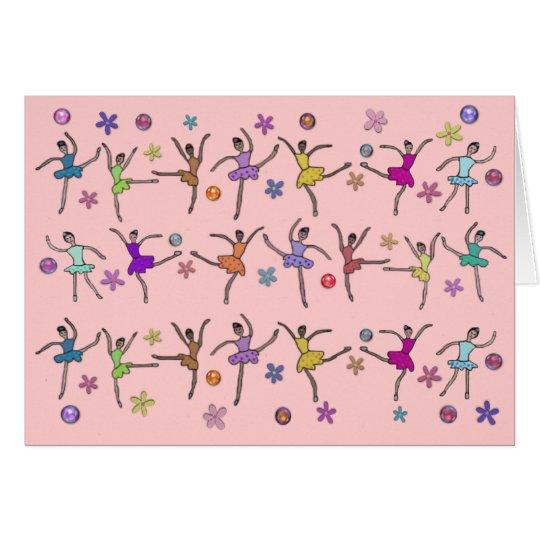 Ballerina Dance Card