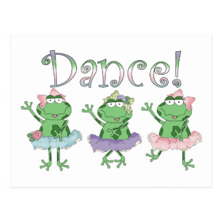 Ballerina Dance Frogs Postcard