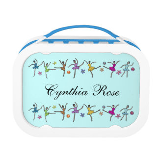 Ballerina Dance Personalized Name Lunch Boxes