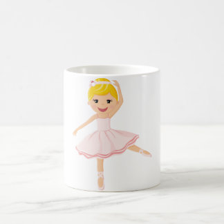 Ballerina dancer blond coffee mug