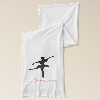 Ballerina Dancer Custom Name Scarf