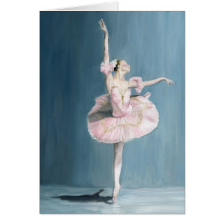 Ballerina Dancer Original Art Note Card