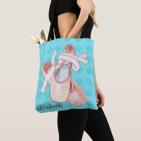 Ballerina Dancer Toe Shoes Art Tote Bag