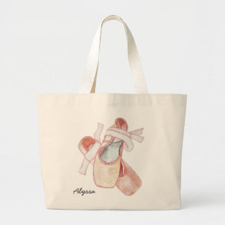 Ballerina Dancer Tote With Name Jumbo Tote Bag