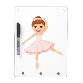 Ballerina Dancer with brown hair Dry Erase Board