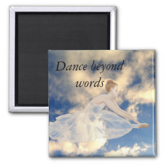 Ballerina Dancers Skies Ballet Dance CricketDiane Square Magnet