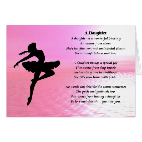 Ballerina - Daughter Poem Card