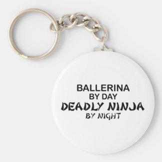 Ballerina Deadly Ninja by Night Key Ring